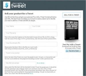 Auf Pay with a Tweet kann jeder Produkte gegen Tweets verkaufen