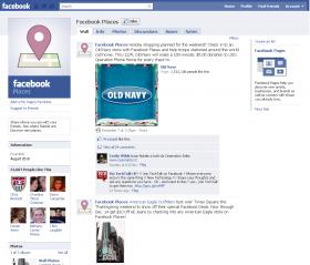 Die Facebook Places Seite