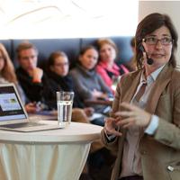 Vortrag von Tina Kulow (Facebook-Pressesprecherin) beim Social Media Club München