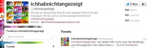 Twitter-Kampagne #ichhabnichtangezeigt