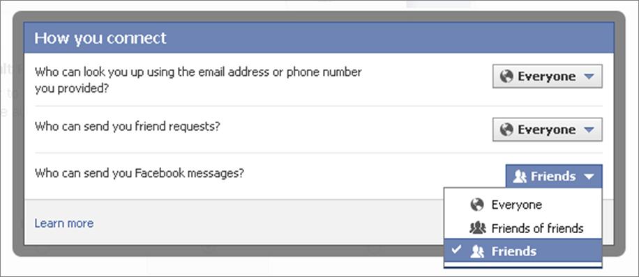 In den Privatsphäre-Einstellungen kann man festlegen, wer einem Nachrichten schicken kann.
